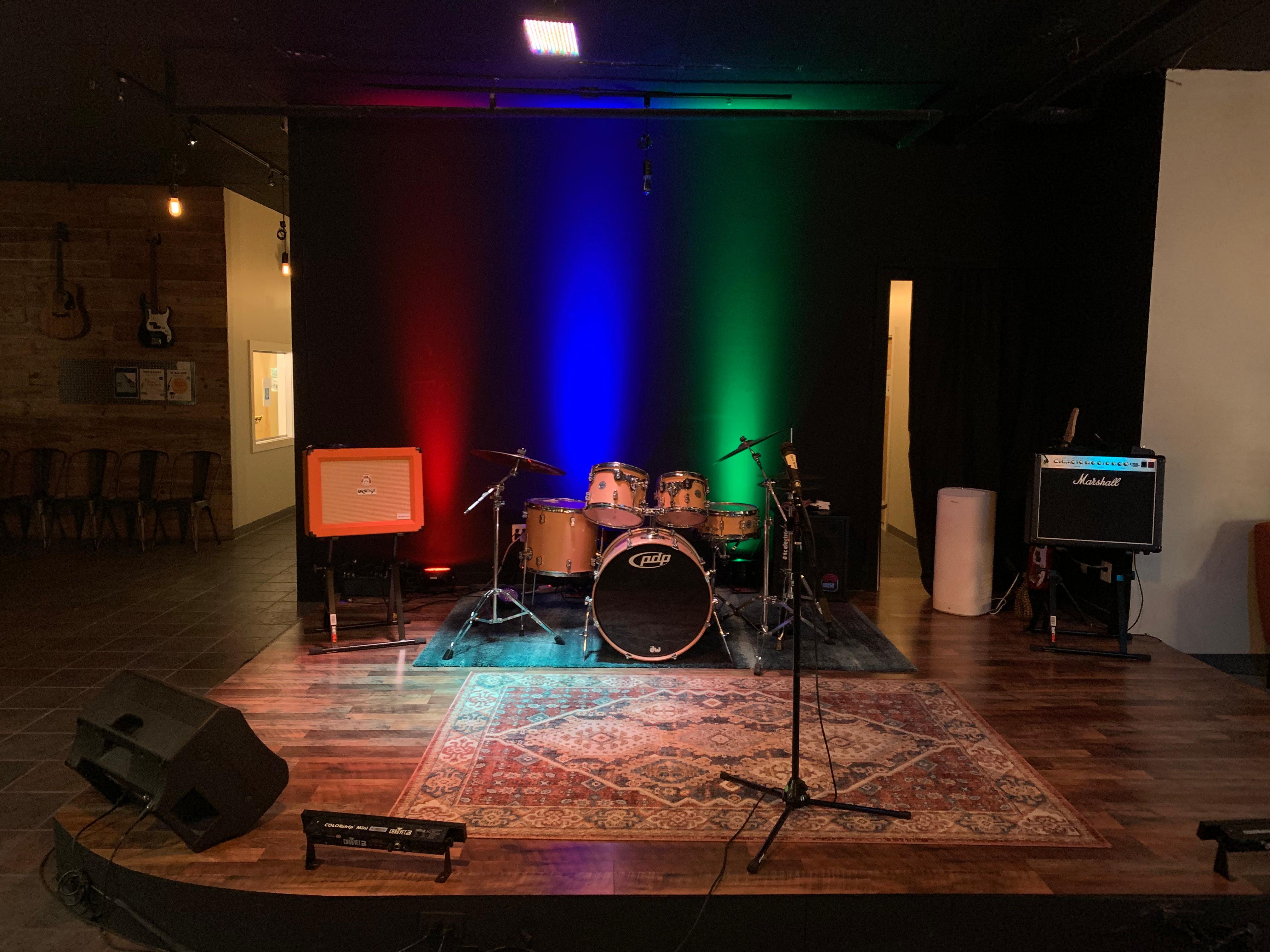 Empty Stage Backlit
